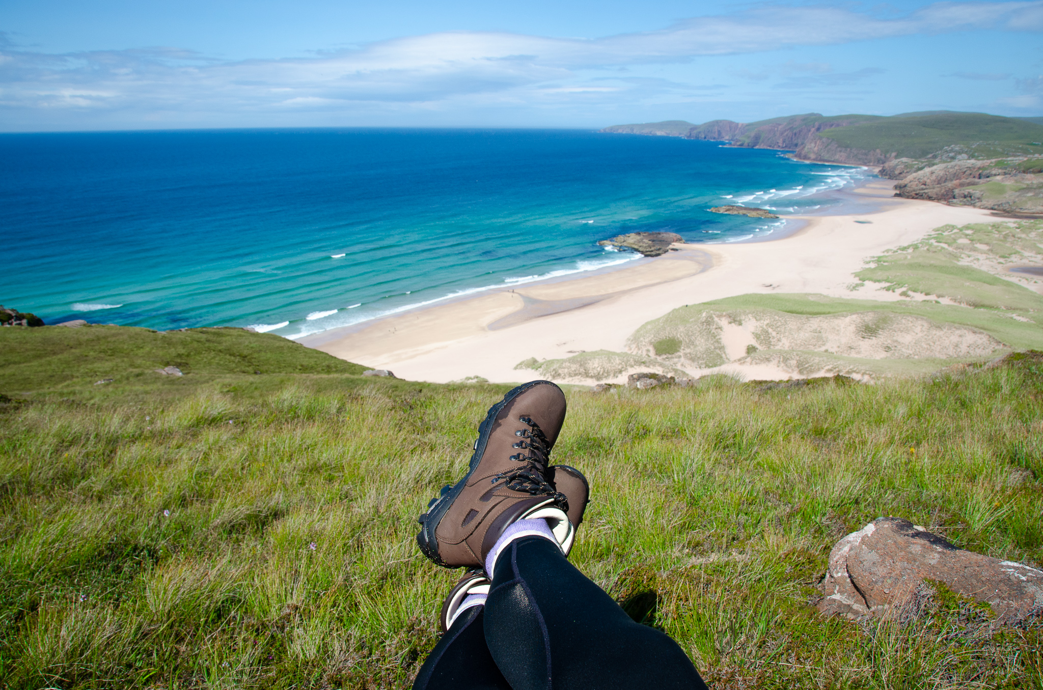 aaand relax… Sandwood Bay at its best!