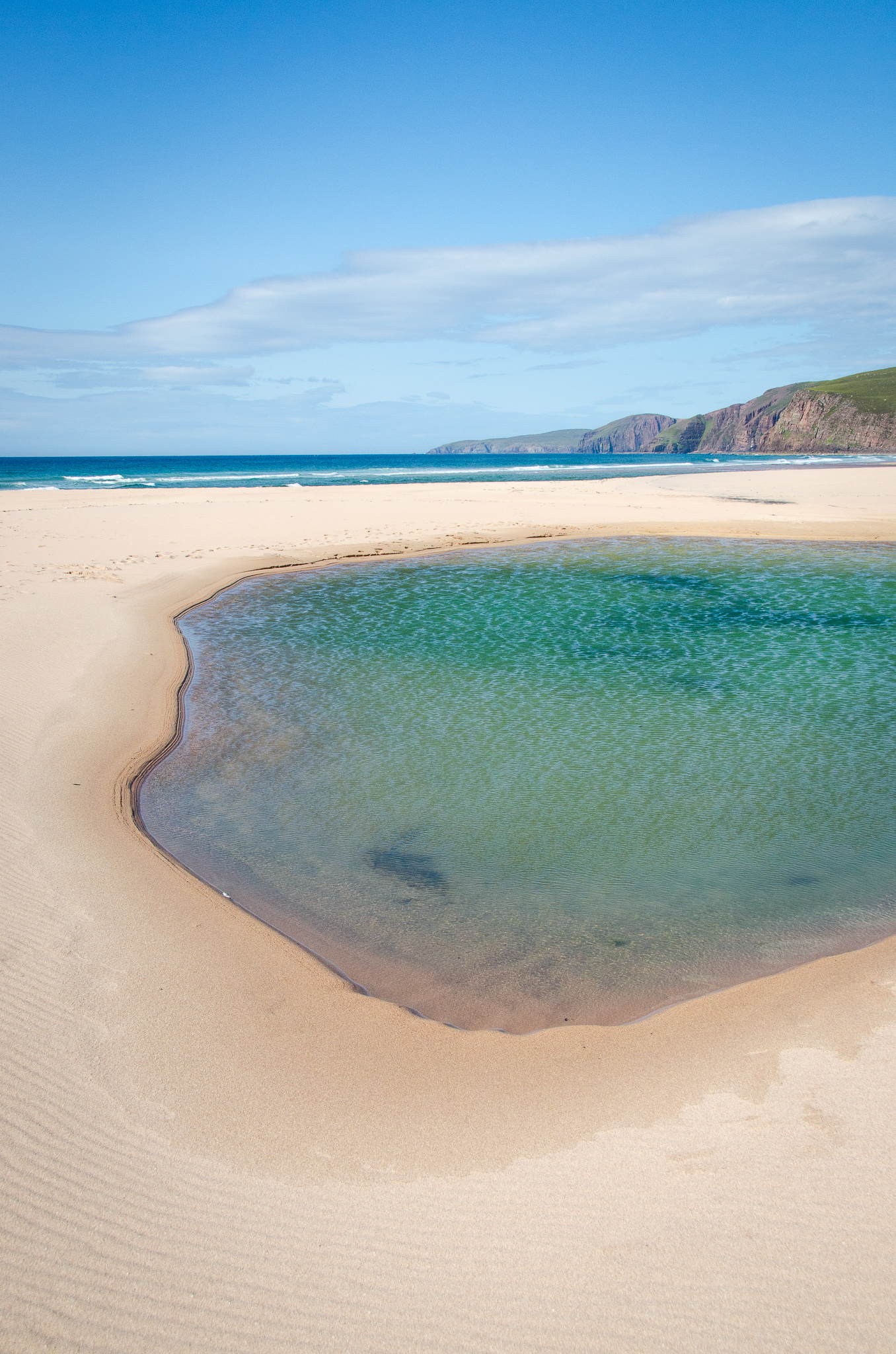 Saltwater pools on the beach