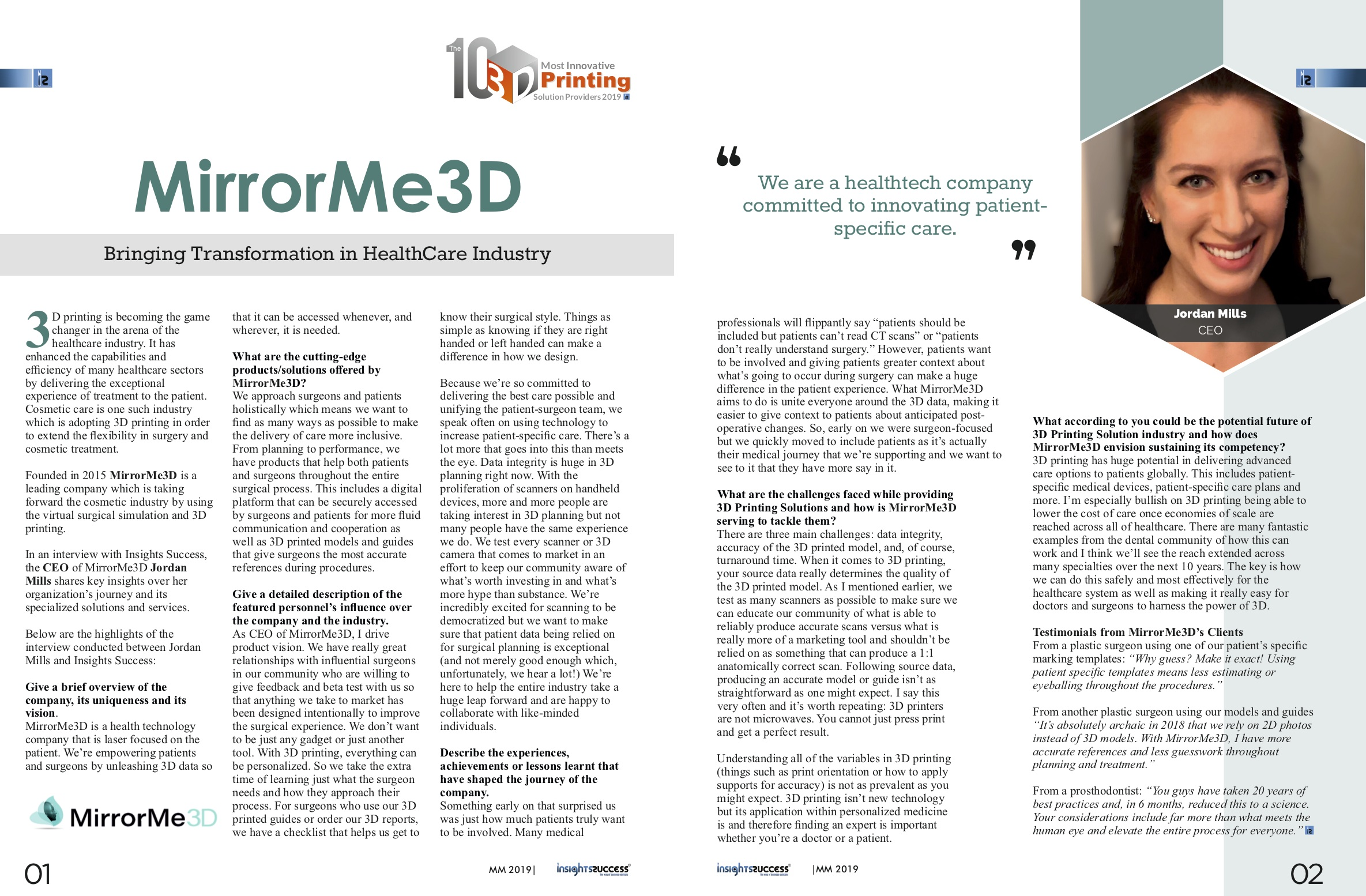 MirrorMe3D+Jordan+Mills+InsightsSuccuess