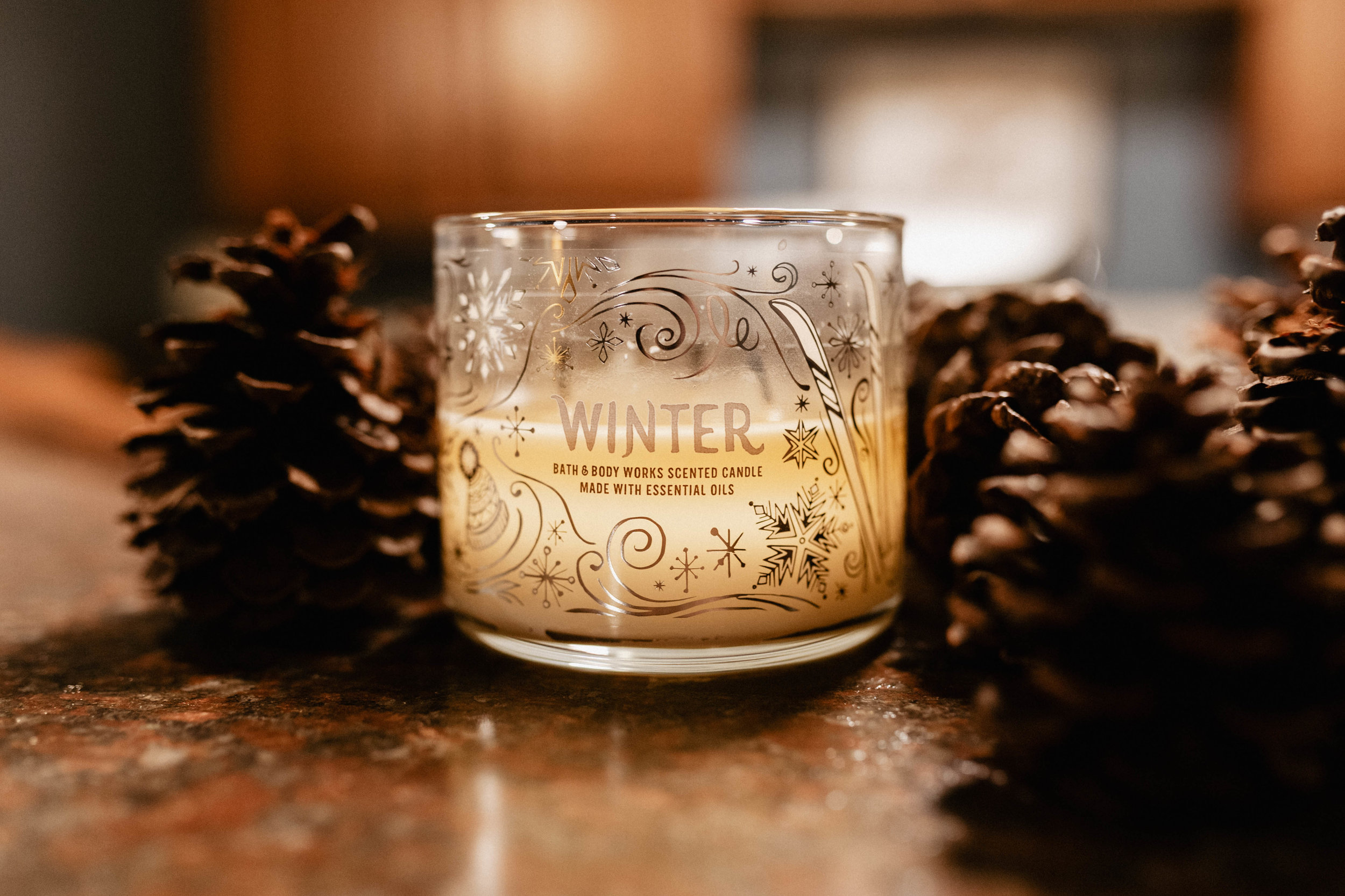 WINTER - This one smells exactly what it sounds like it would smell like. Have you ever wondered what the winter season as a whole smells like? It's this candle. I love this candle because my Nan used to burn it, before she moved, around this time of year when my family would gather together for the holidays. Smells good? Check. Sentimental value? Check. Perfect blend of home, sweet, and spice scents? Check, check, and check.