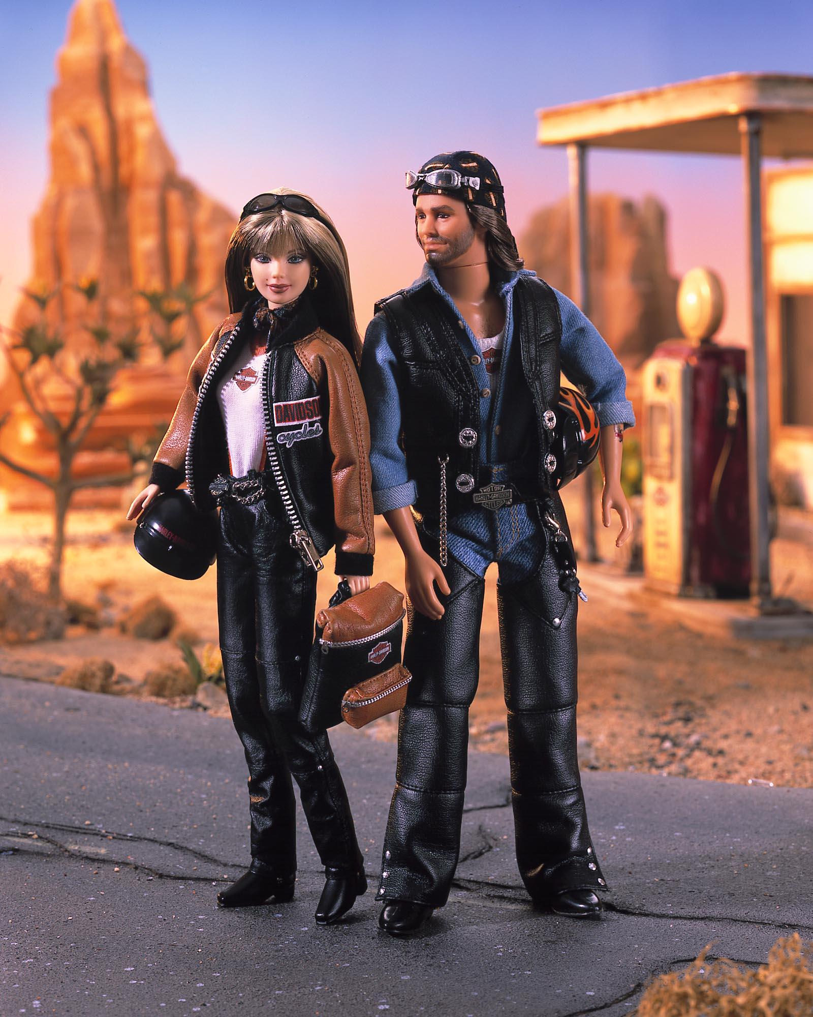 Harley Davidson Barbie and Ken Dolls