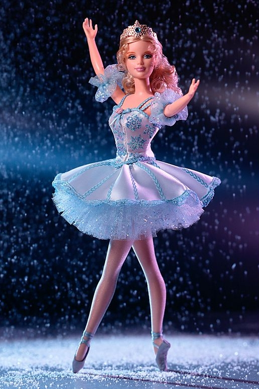 Barbie Doll as Snowflack in the Nutcracker