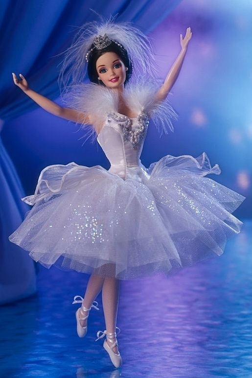 Barbie as the Snow Queen in Swan Lake