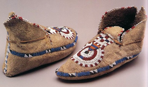 Moccasins - Moccasins protect the foot while allowing the wearer to feel the ground. They are typically made of deer hide for its combination of softness and flexibility.