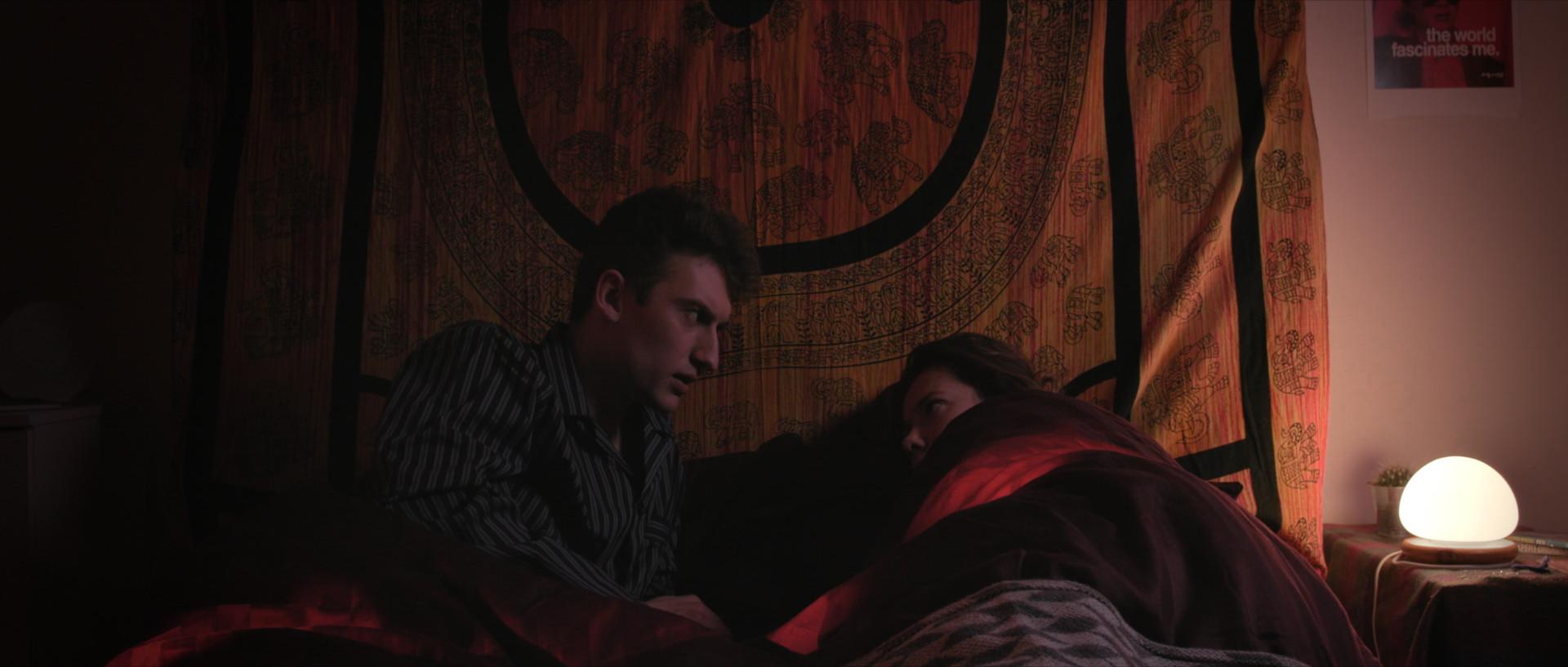 James Gulliford (Gary) and Louise Hoare (Meg) in Sleep Tight