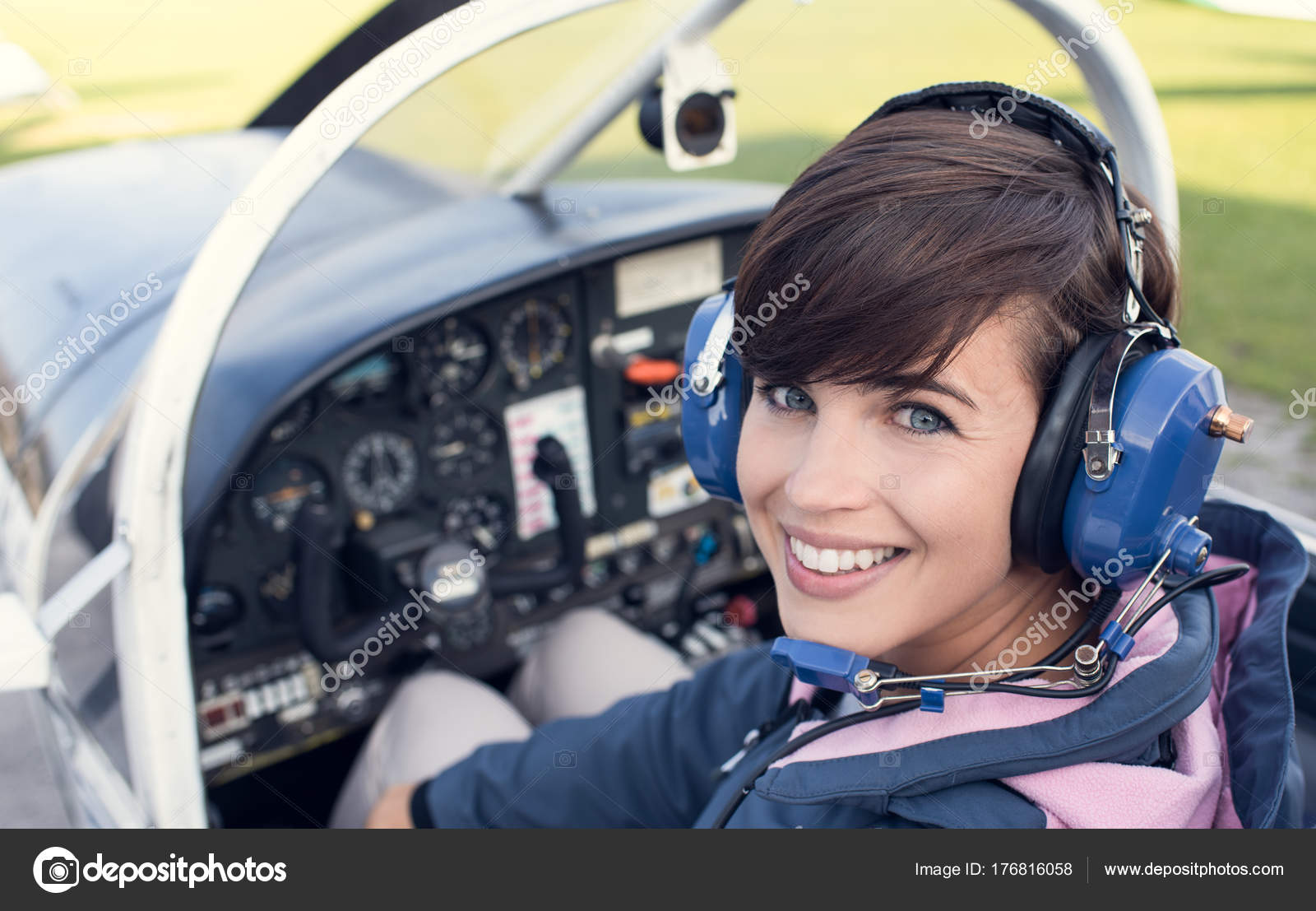 It's surprisingly difficult to find stock photos of female pilots, but I fell in love with this one.