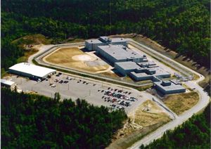 Aerial view of the prison complex in Berlin, NH