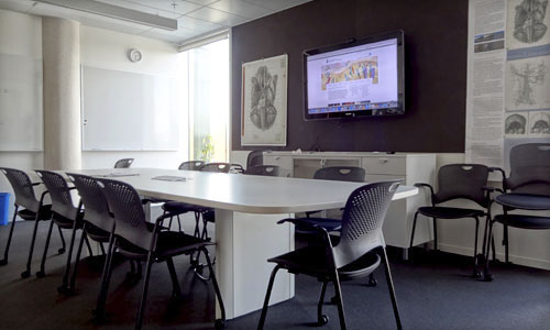 The BMC seminar room is a perfect place to study and work with peers.