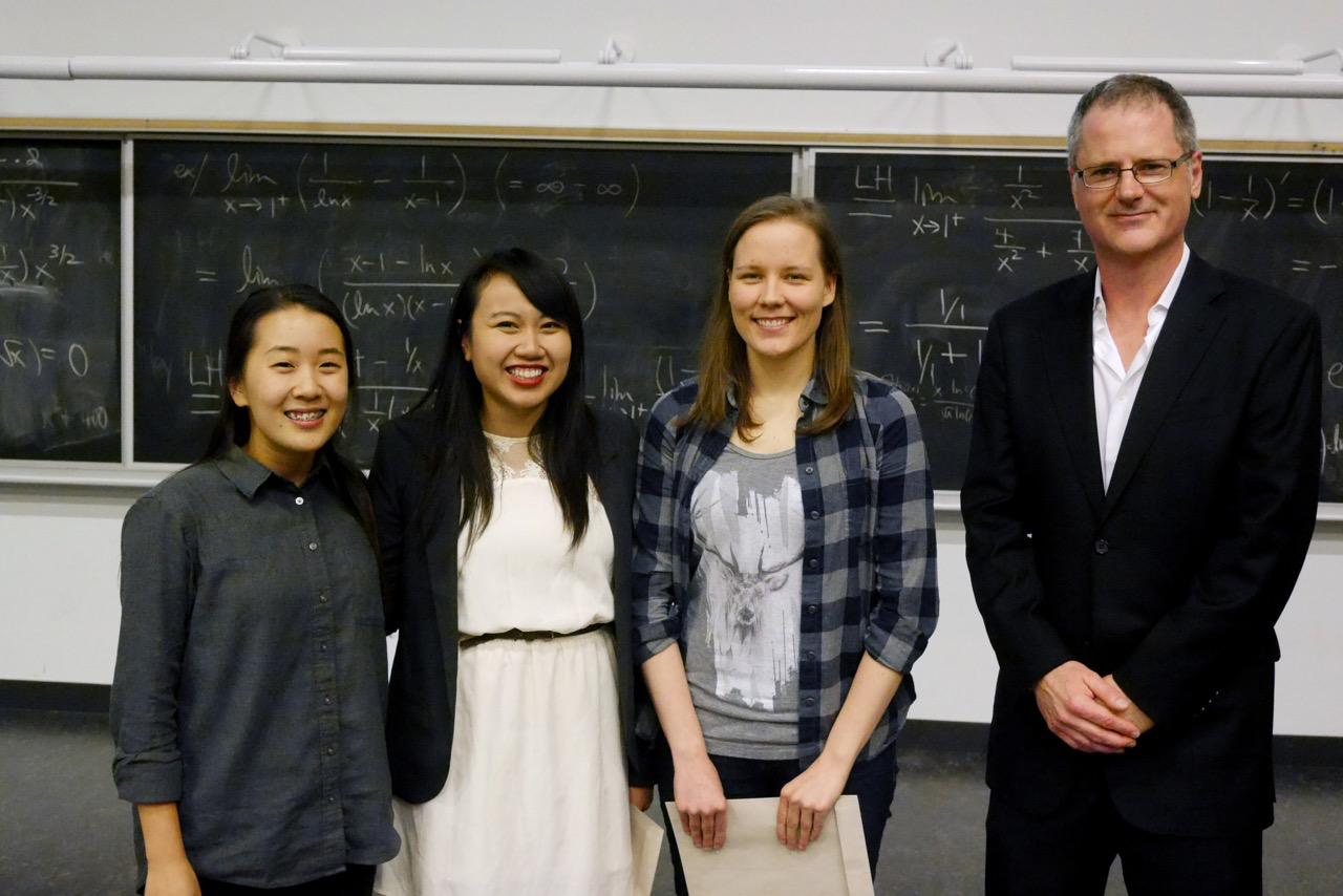 Wendy Kates Scholars Sarah Kim, Susan Le, Samantha Holmes with Director Nicholas Woolridge(Photo cred: Marc Dryer)