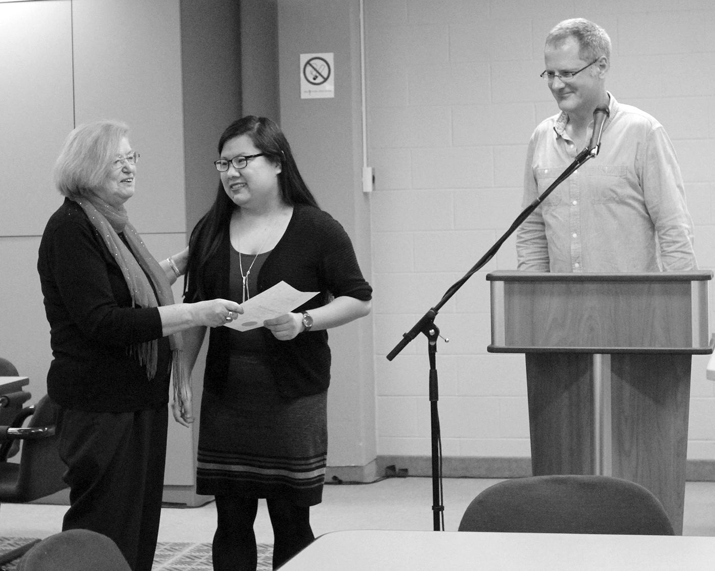 Cheralea Gilbert, Wendy Gu and Nicholas Woolridge. Photo Credit: Sarah (1T6) Kim