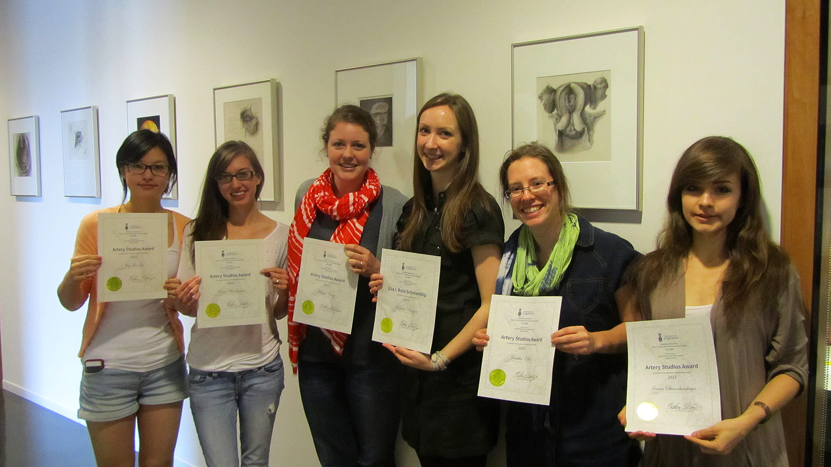 Joy Qu, Erin Warketin, Melissa Cory, Melanie Burger, Jerusha Ellis, Inessa Stanishevskaya. Photo credit: Laura Smith