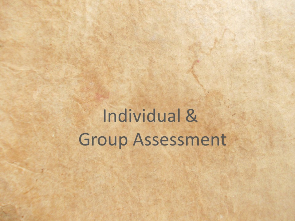 To get an objective assessment of individuals or groups...