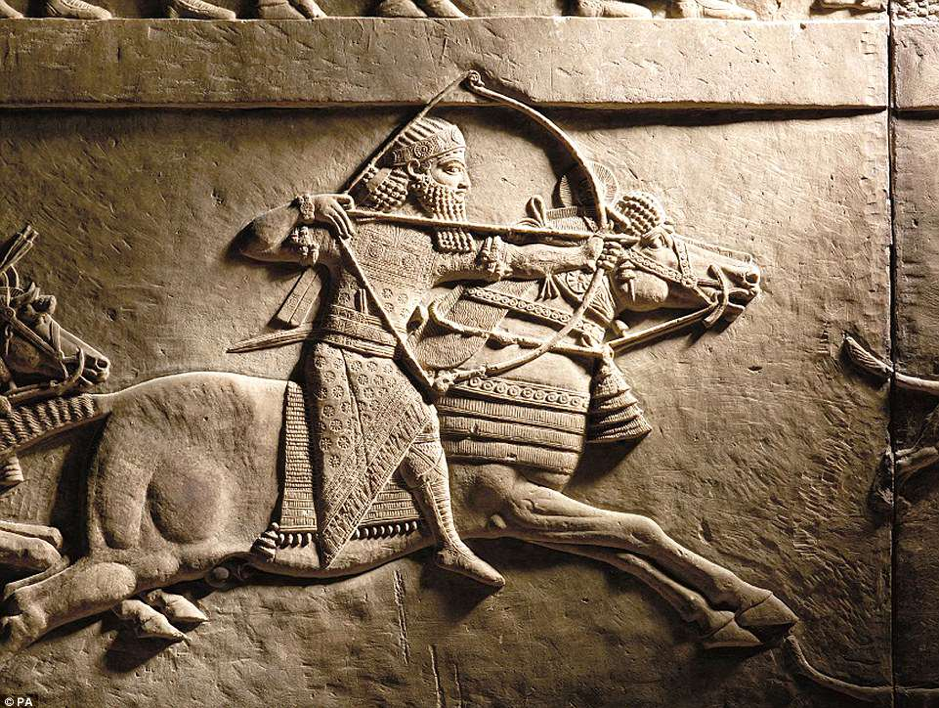 Panel Relief Ashurbanipal c.7th century BCE, Courtesy of Author