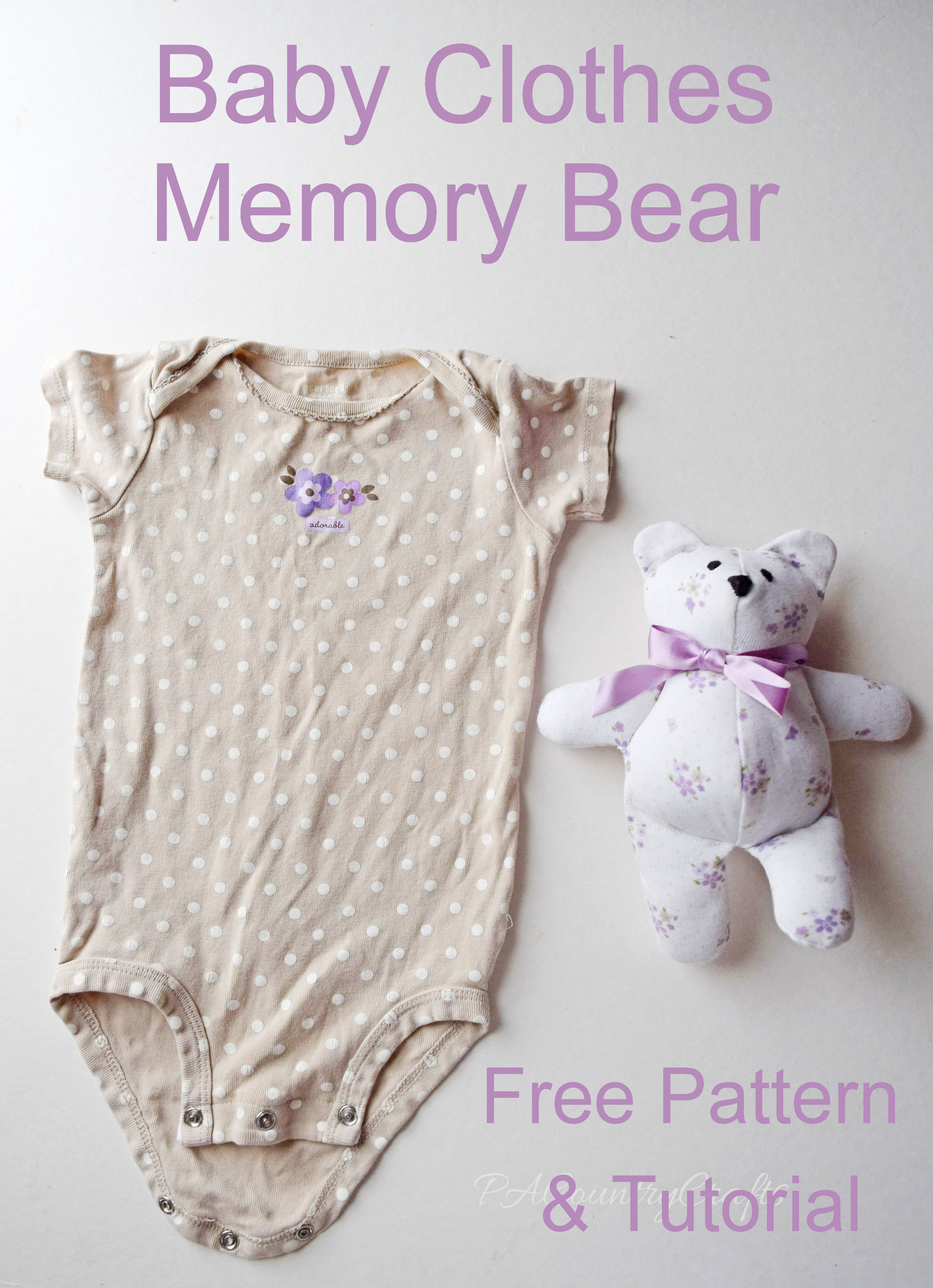 Turn old baby clothes into a memory bear.