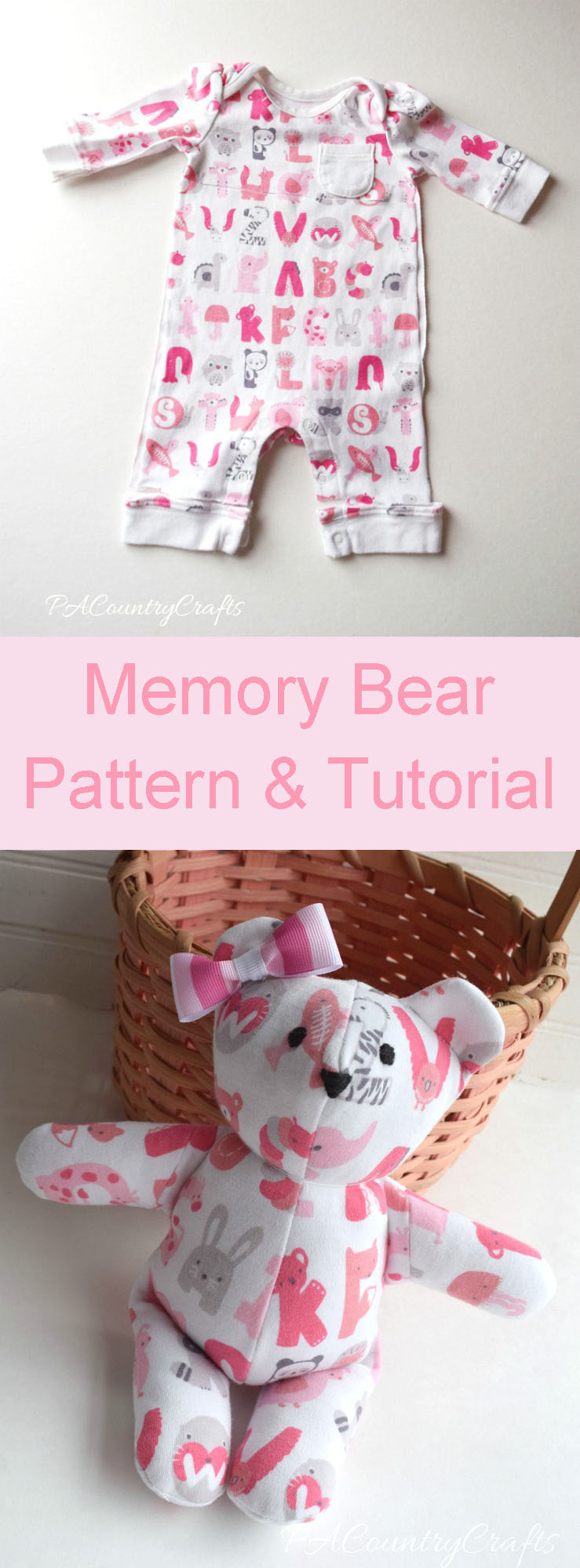 Use baby's going home from the hospital outfit to make a keepsake stuffed memory bear with this free pattern and tutorial.