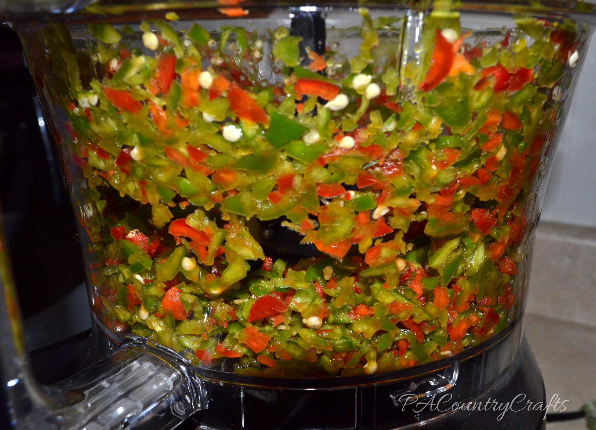 chopped pepper mix