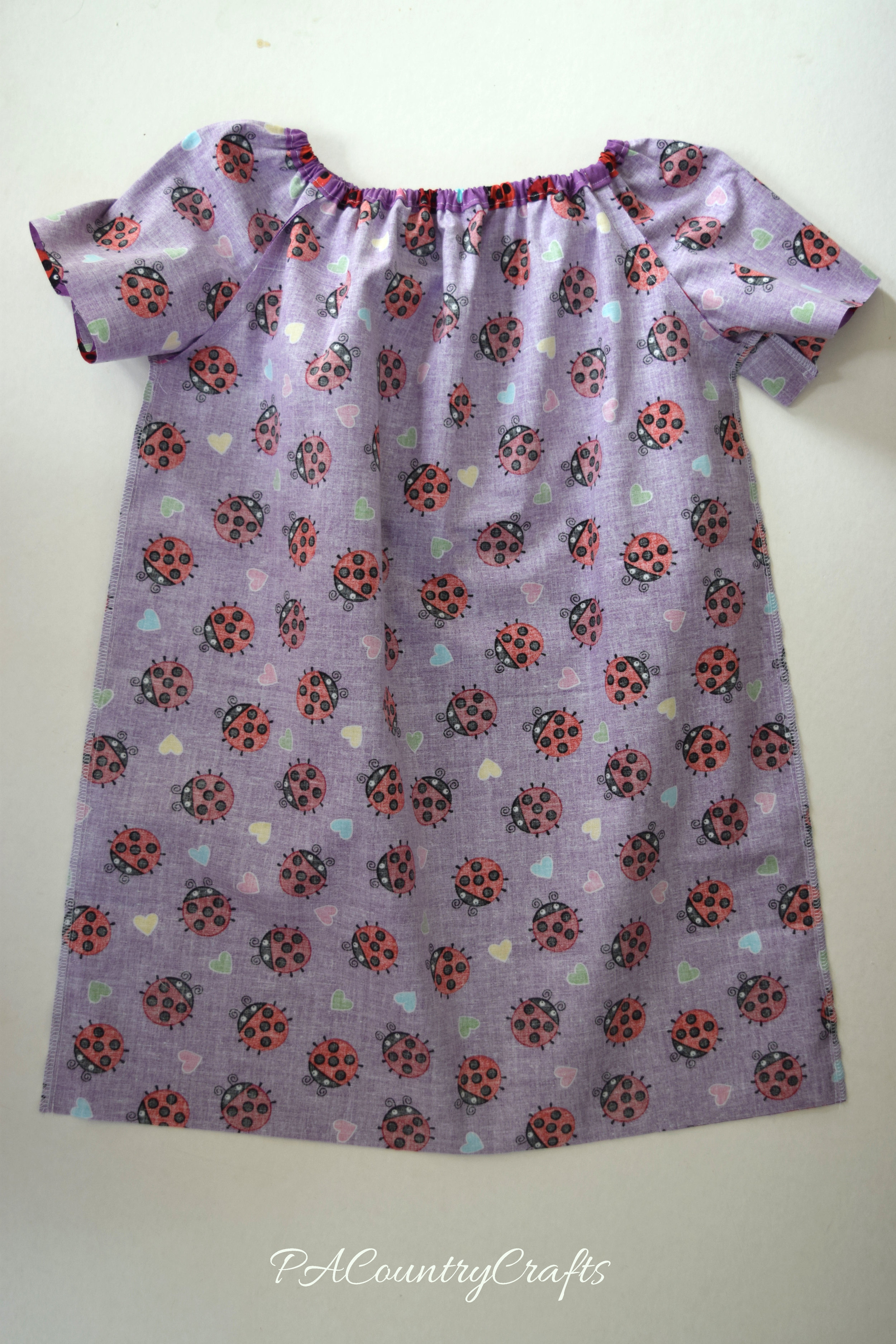inside of peasant dress