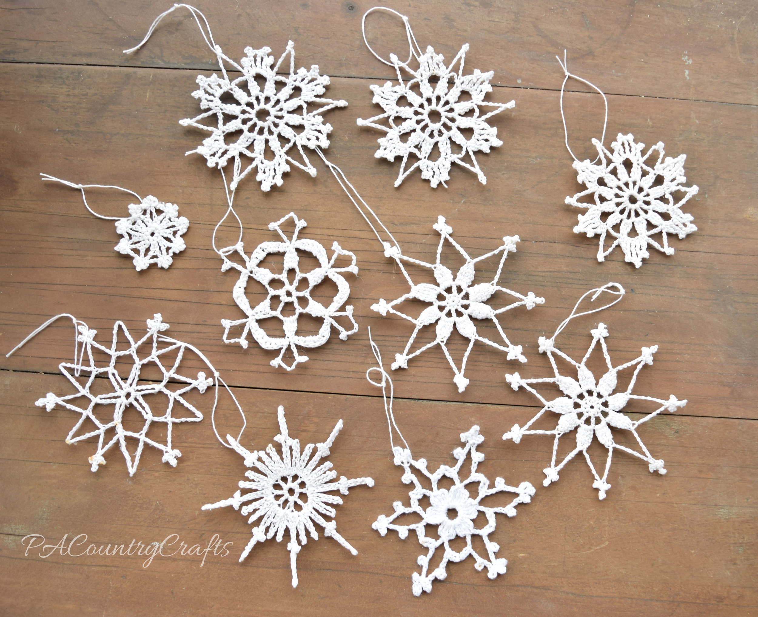 Vintage inspired crochet snowflakes