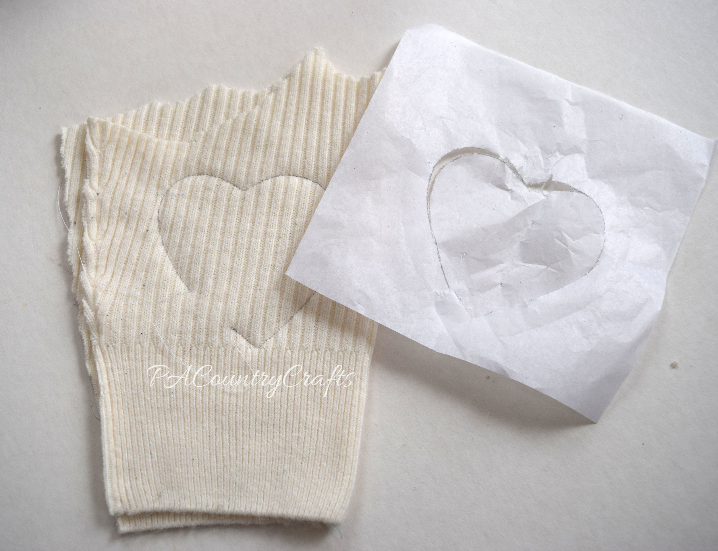 How to use tissue paper as an easy sewing template