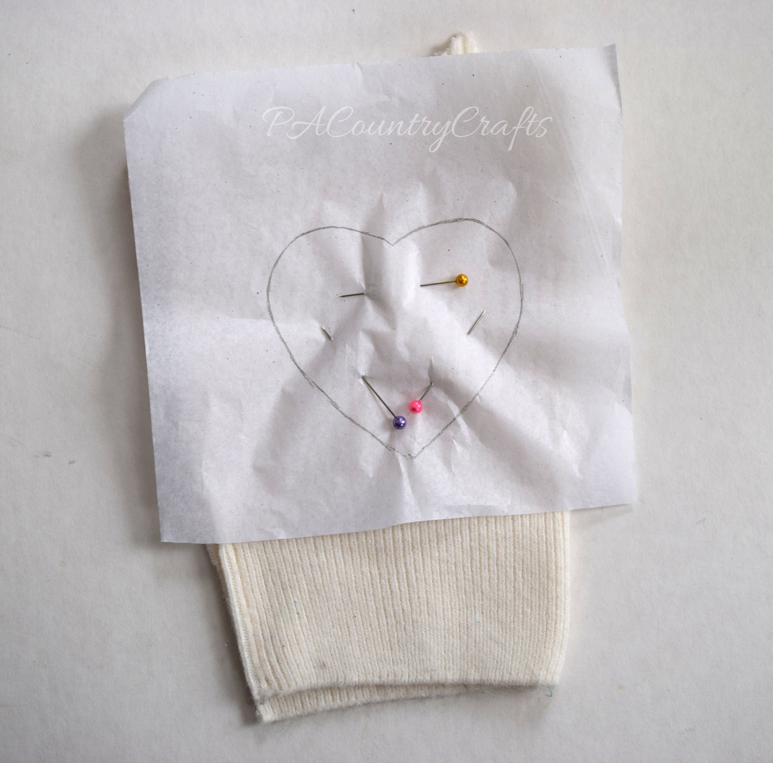 Use tissue paper as a sewing template for small pieces