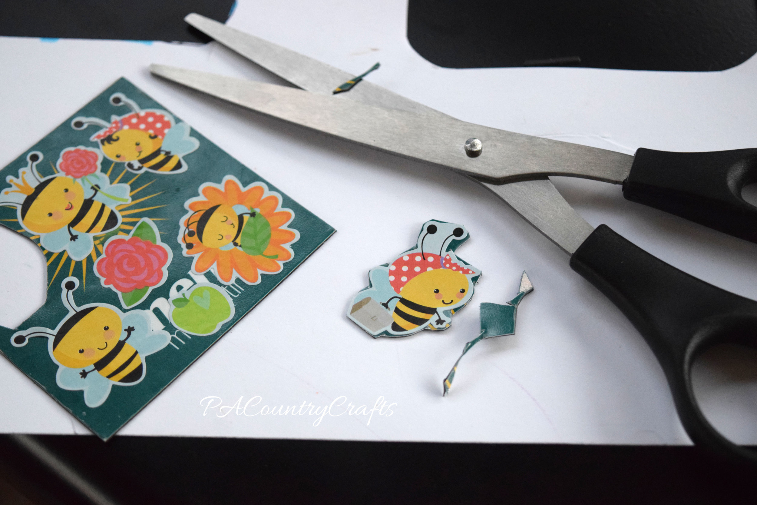How to turn stickers into magnets...