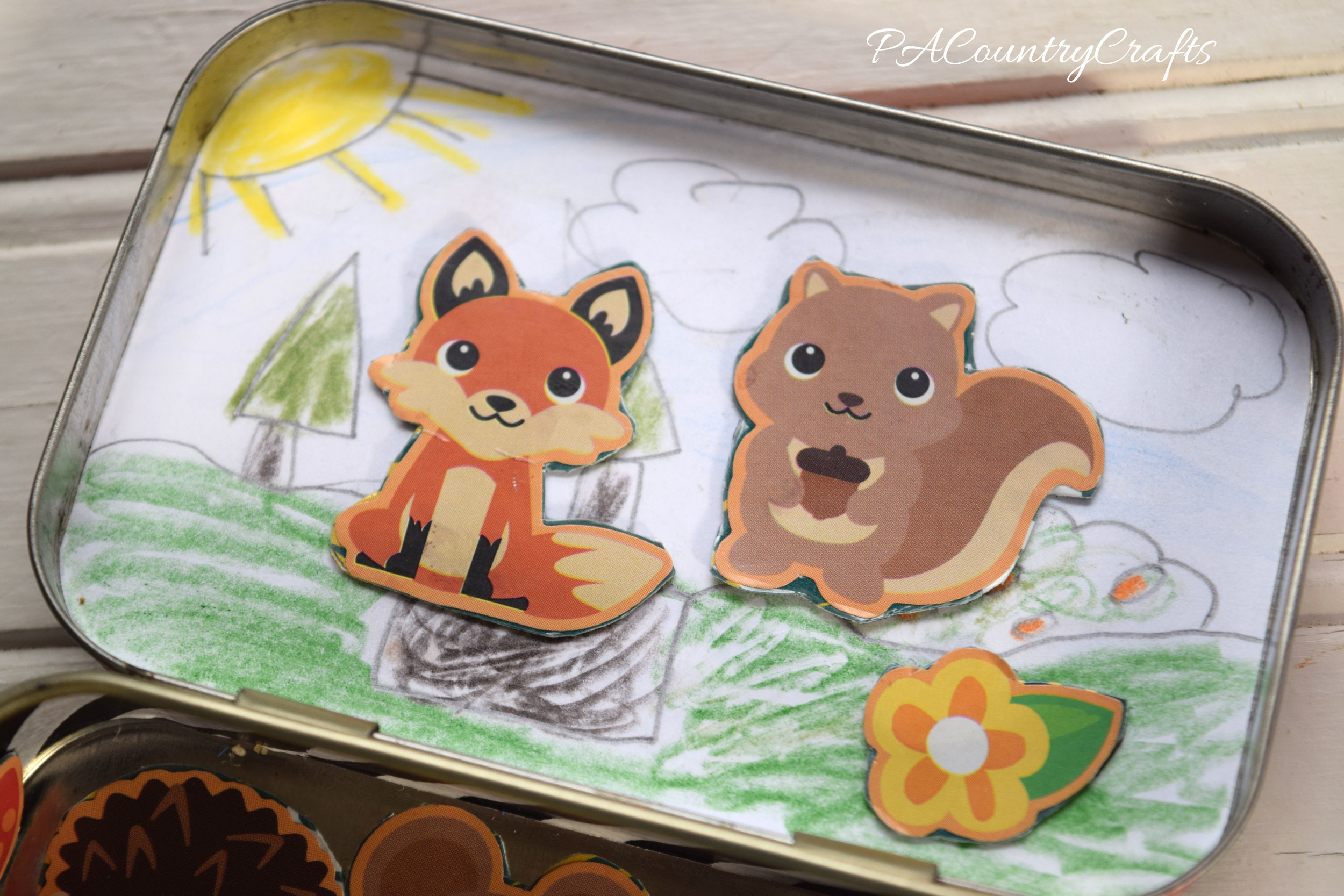 Easy kids craft project! Altoid Tin Magnet Playsets
