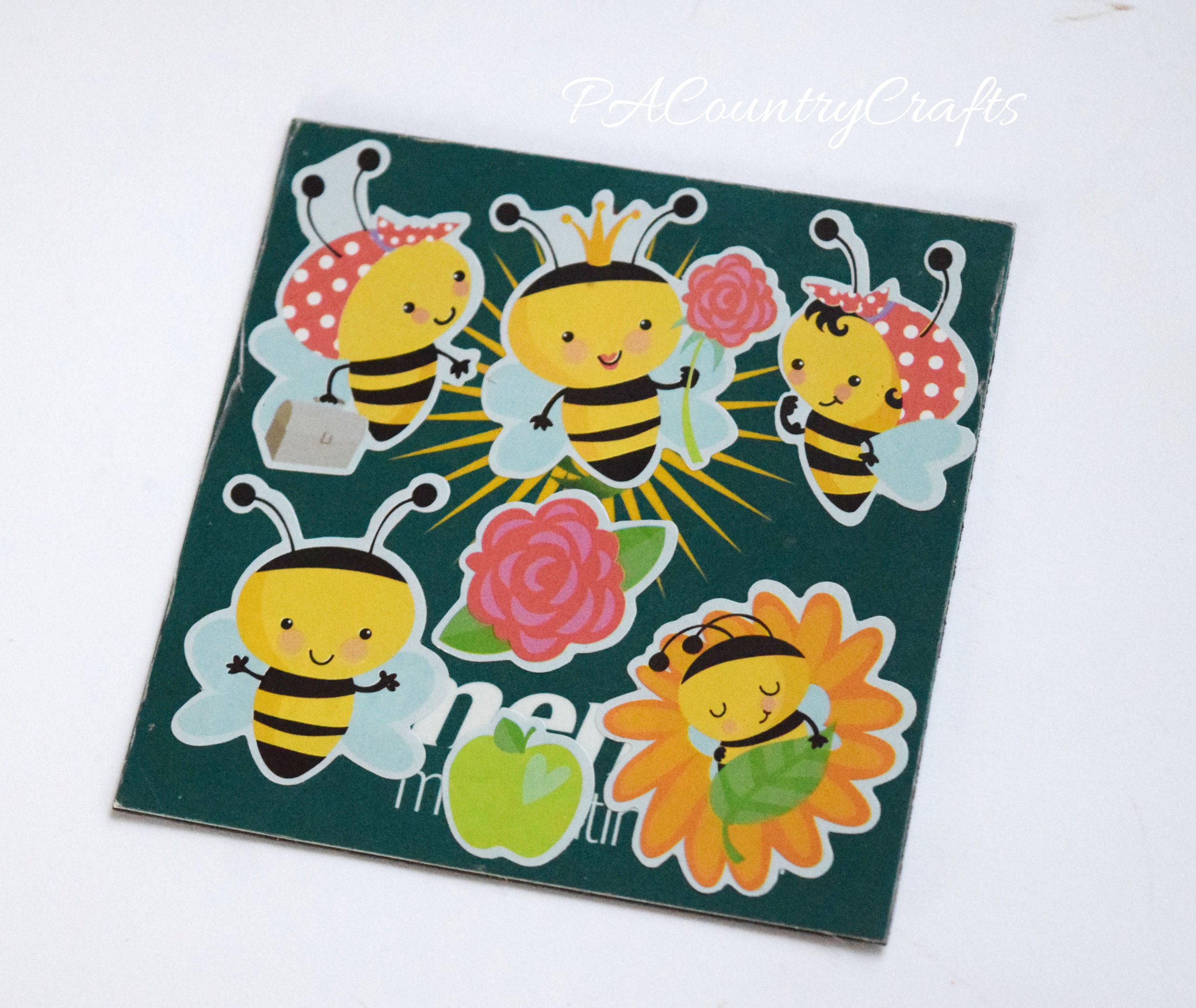 use old promo magnets to make stickers into magnets