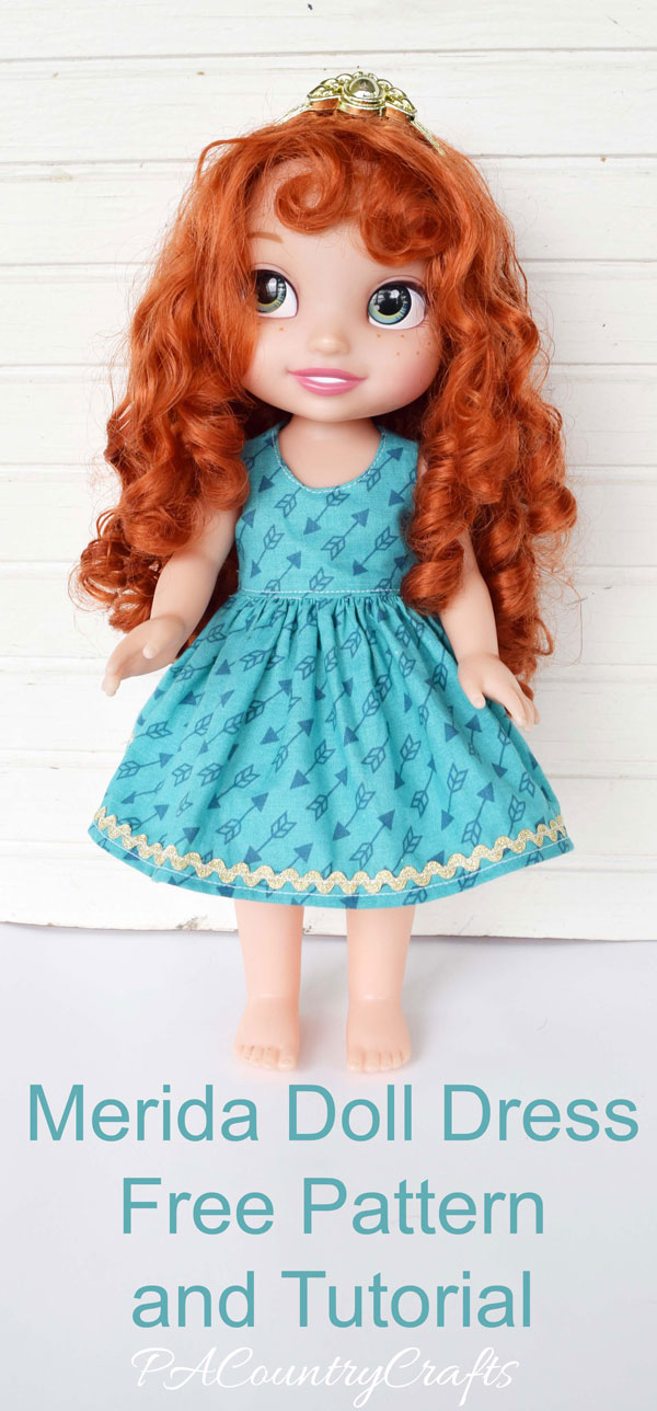 Free pattern for a doll dress to fit 14-inch Disney dolls!