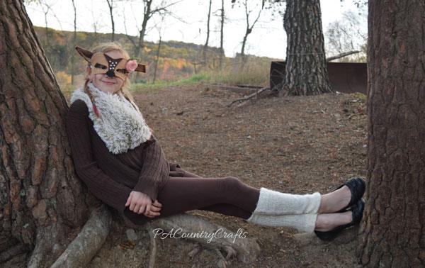 Easy Last-Minute Deer Costume for Girls