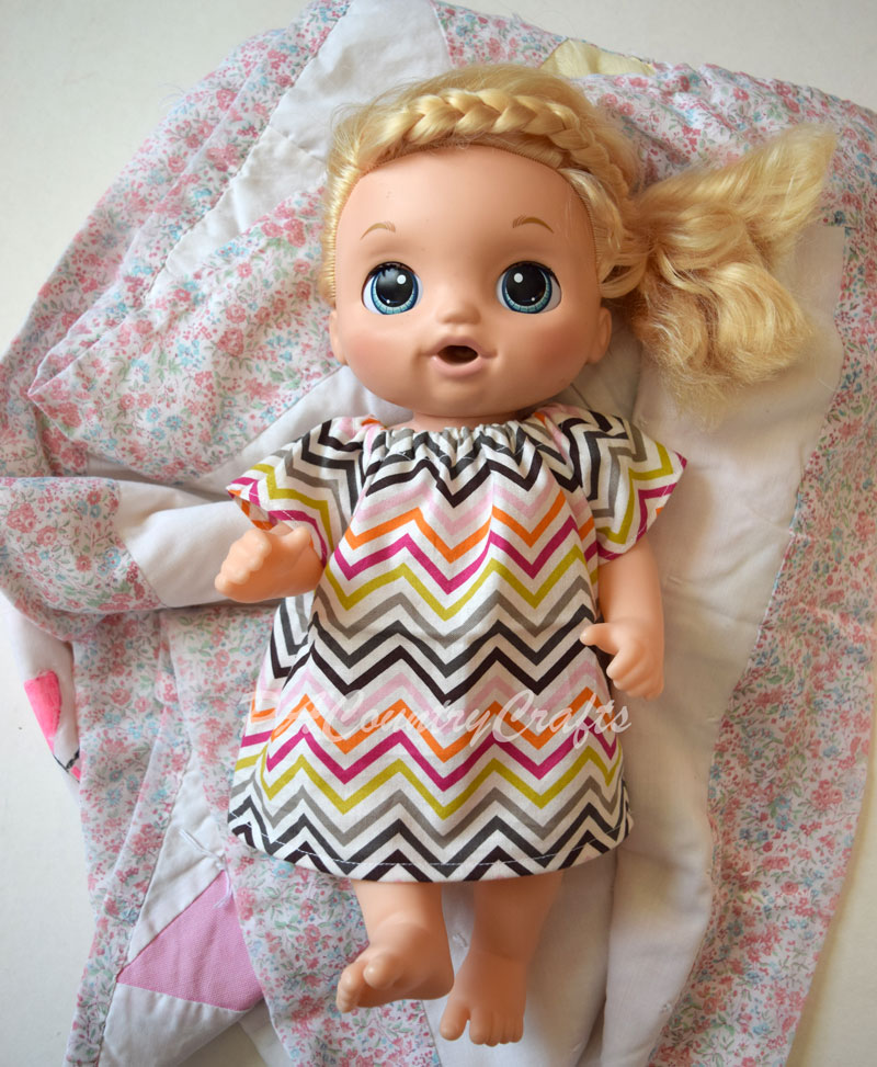 Free Baby Alive dress sewing pattern