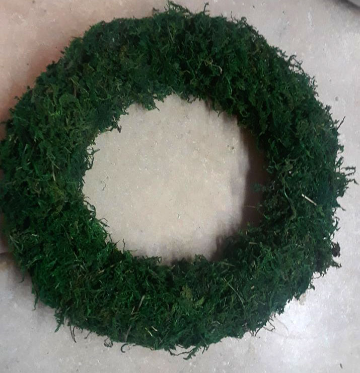 Dollar Store Moss Wreath