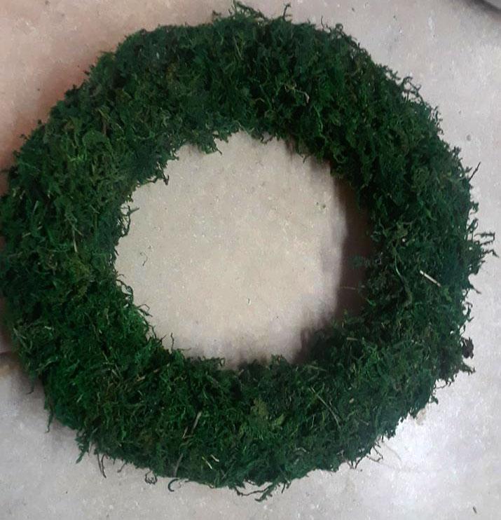 Dollar Store Moss Wreath