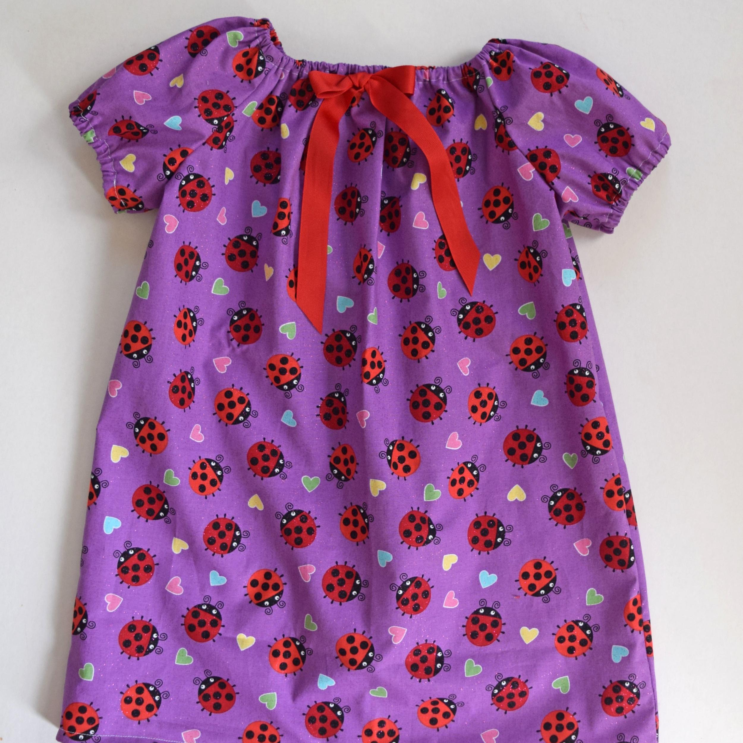 Elastic Sleeve Peasant Dress