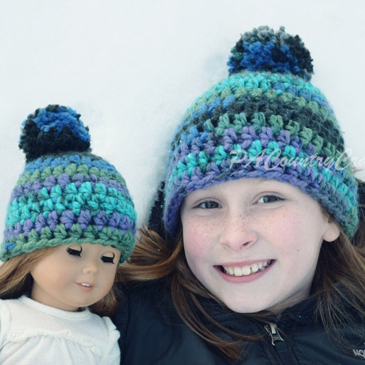 Girl and Doll Hats