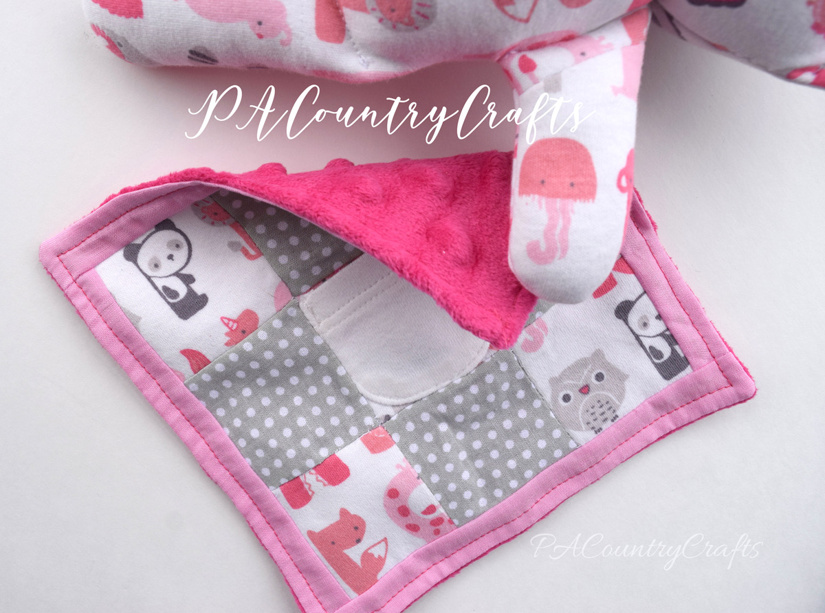 baby clothes blanket or lovie for stuffed animal