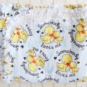 Rag Edge Flannel Baby Blanket