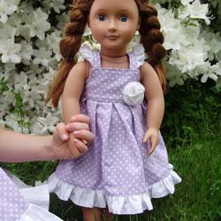Flutter Sleeve Doll Dress