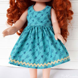 "14"" Doll Dress Pattern"