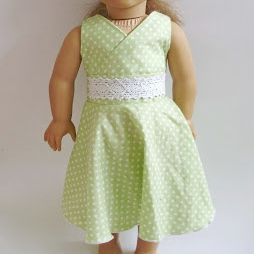 Twirly Lace Doll Dress
