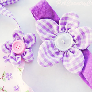 Puffy Petal Fabric Flowers