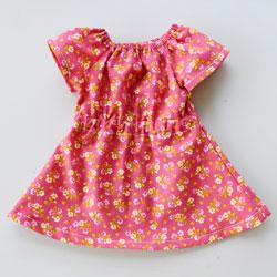 Elastic Waist Doll Dress