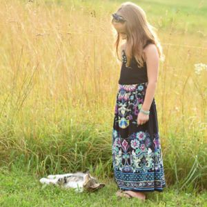 Women's Dress to Girls' Maxi Skirt