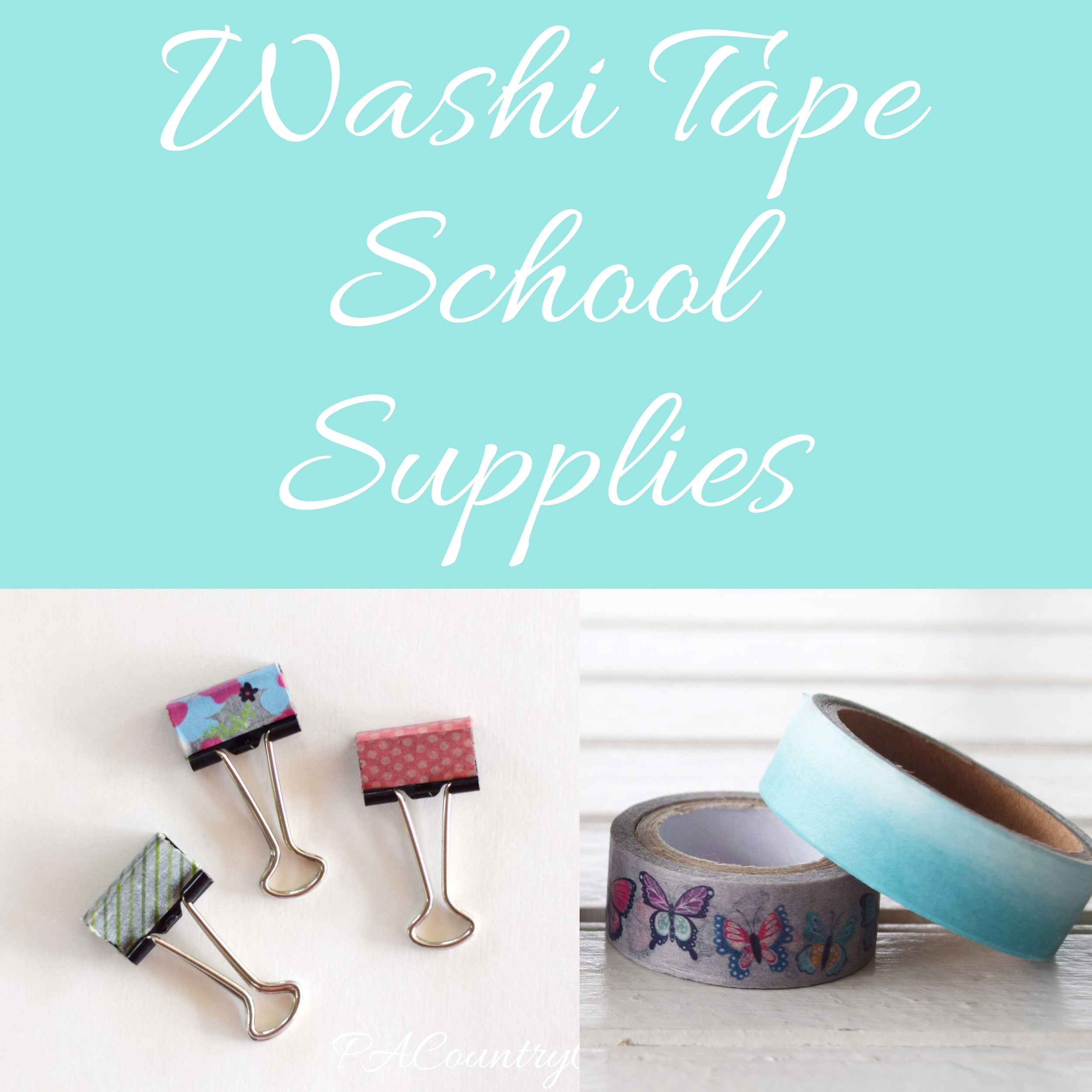 Washi Tape School Supplies