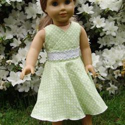 Twirly Lace Doll Dress