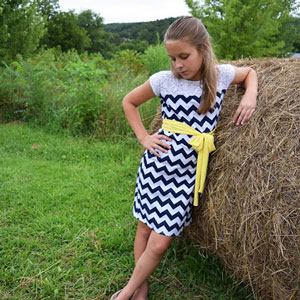 Lace Top Box Dress