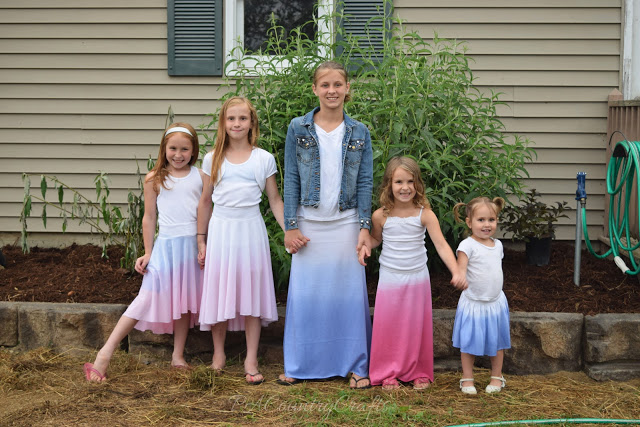 Ombre Dyed July 4th Skirts