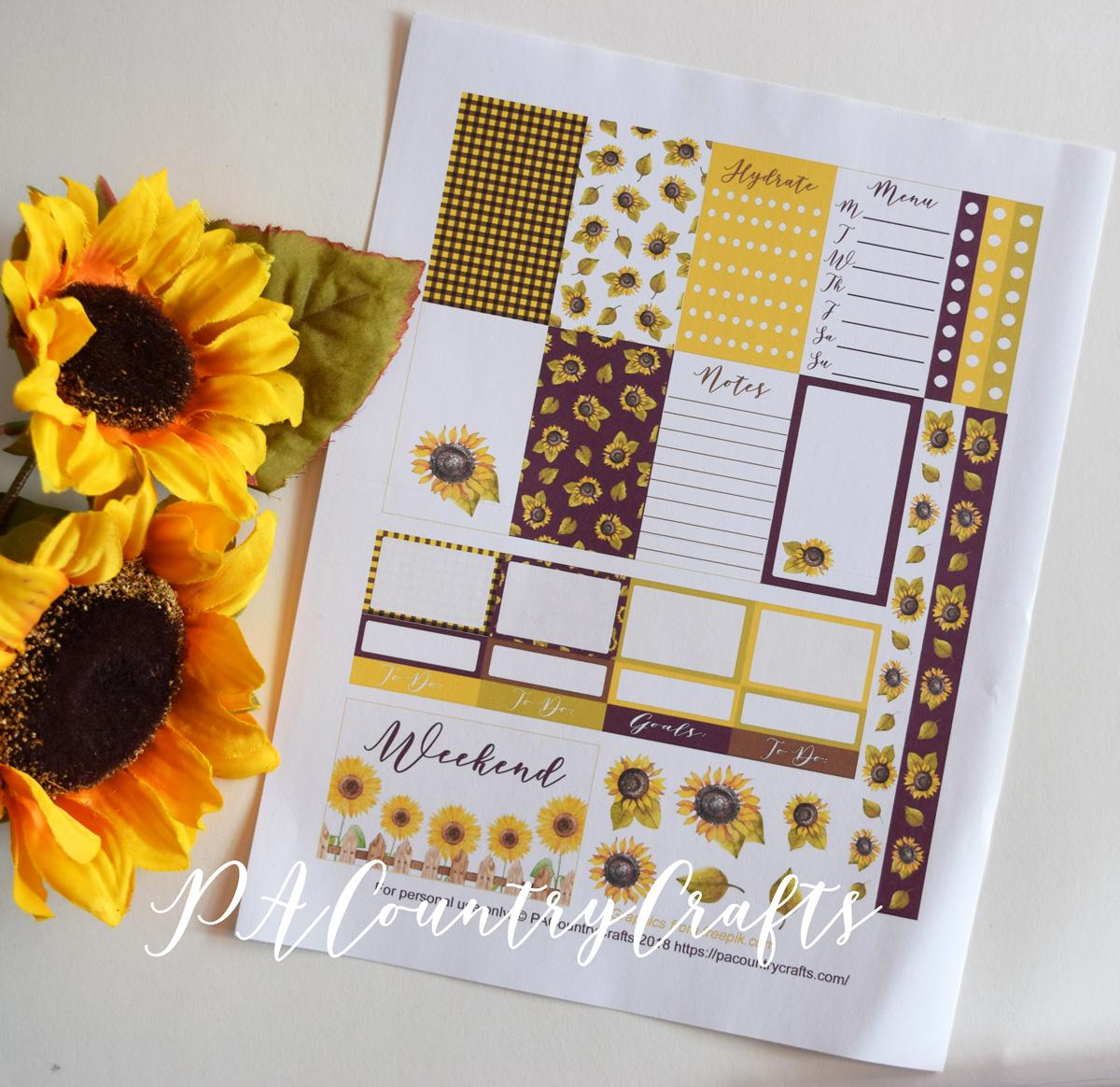Sunflowers Planner Stickers