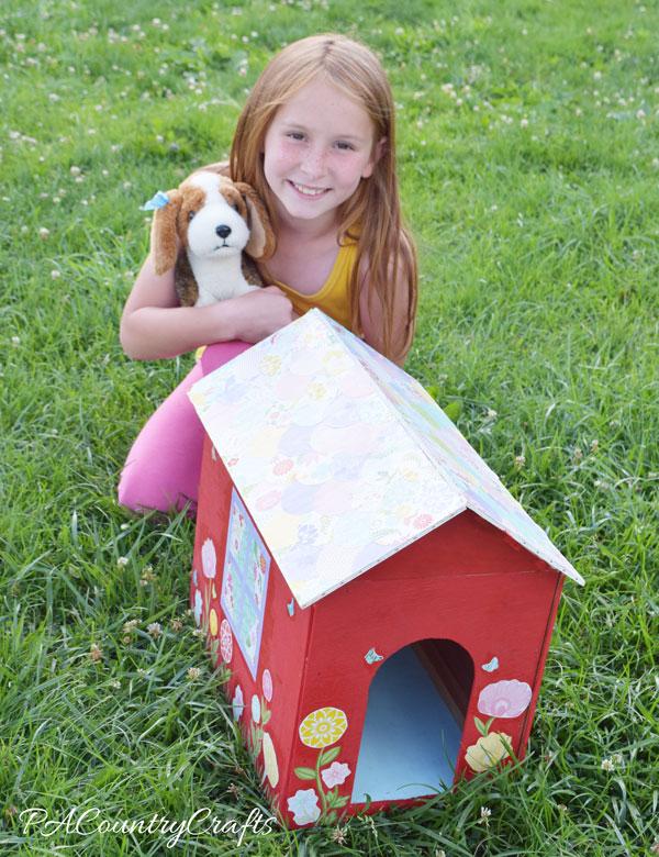 Mod Podge Toy Doghouse