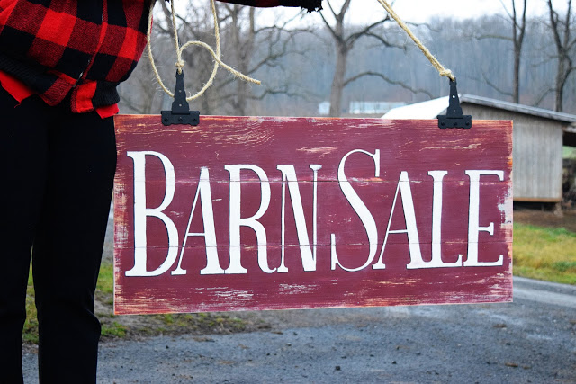 Barn Sale Sign