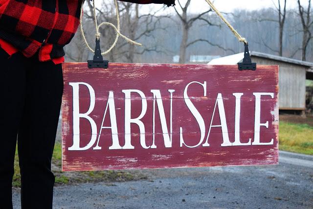Barn Sale Sign